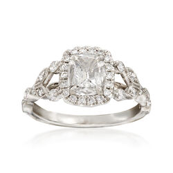 Henri Daussi 1.14 ct. t.w. Certified Diamond Engagement Ring in 18kt White Gold, , default