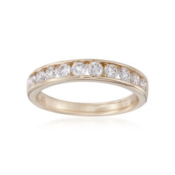.75 ct. t.w. Channel-Set Diamond Wedding Ring in 14kt Yellow Gold, , default