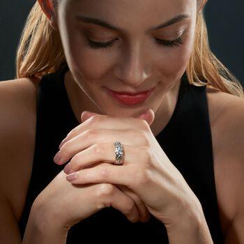 Sterling Silver Medium Byzantine Ring, , default
