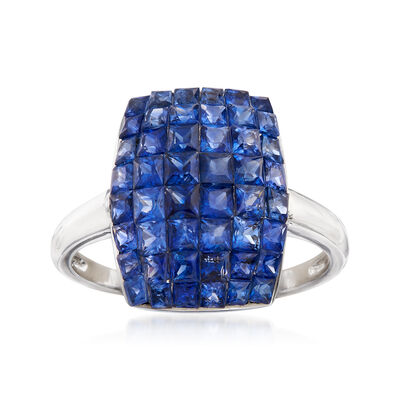 4.40 ct. t.w. Sapphire Ring in 14kt White Gold, , default