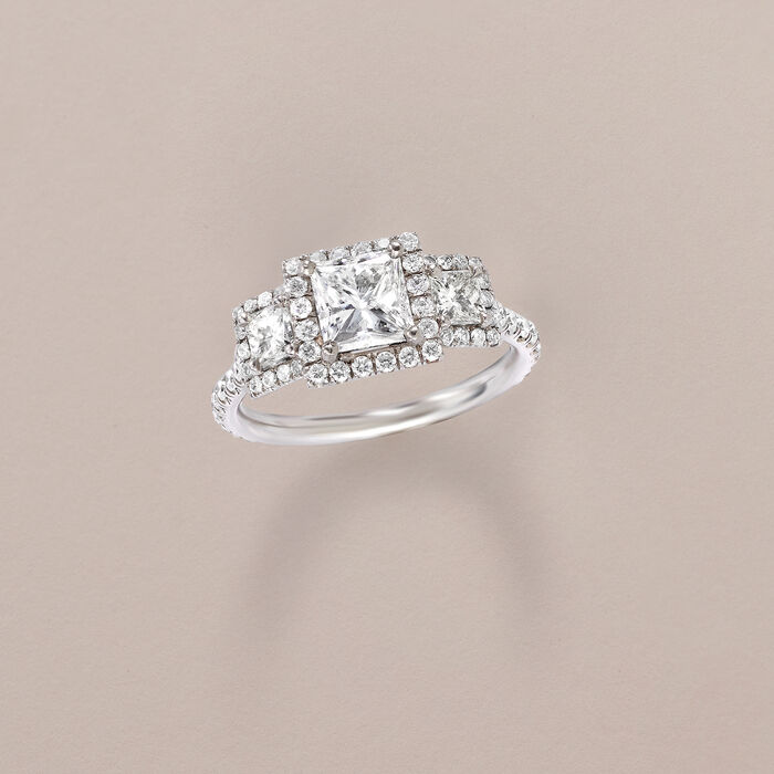 1.96 ct. t.w. Diamond Ring in 18kt White Gold
