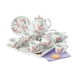 "Child's ""Cherry Blossom"" Porcelain Tea Set, , default"