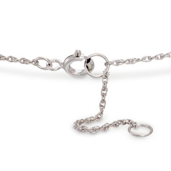 Diamond Accent Mini Initial Bracelet in Sterling Silver, , default