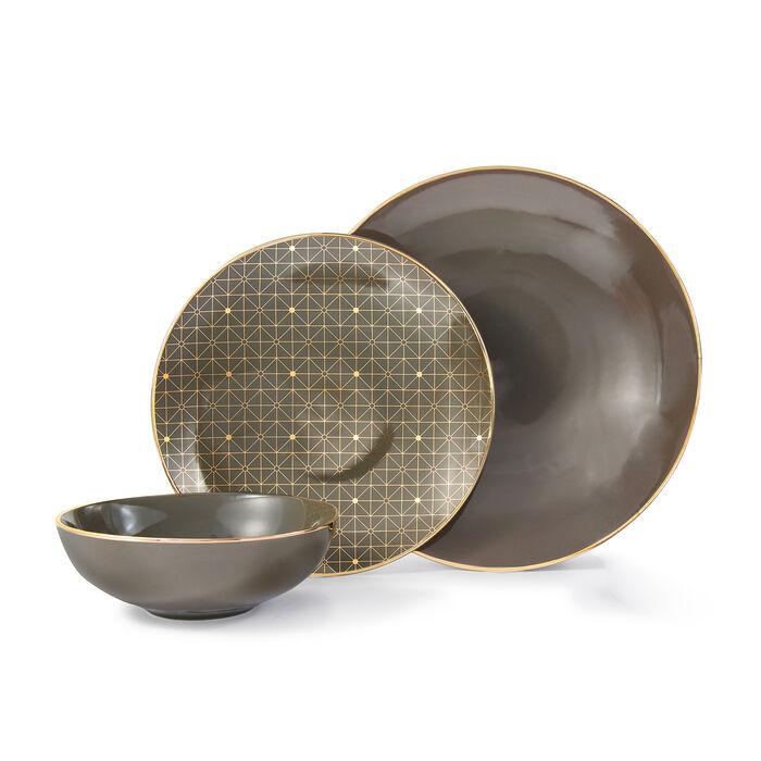 "Lenox ""Trianna Slate"" 12-pc. Porcelain Dinnerware Set, , default"