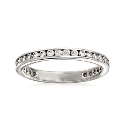 C. 2006 Vintage Tiffany Jewelry .80 ct. t.w. Diamond Eternity Band in Platinum, , default