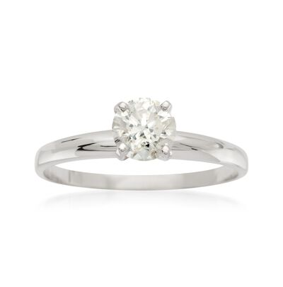 .75 Carat Diamond Solitaire Ring in 14kt White Gold, , default