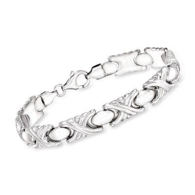 Italian Sterling Silver X-Link Bracelet