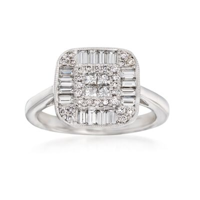 Gregg Ruth .96 ct. t.w. Diamond Ring in 18kt White Gold