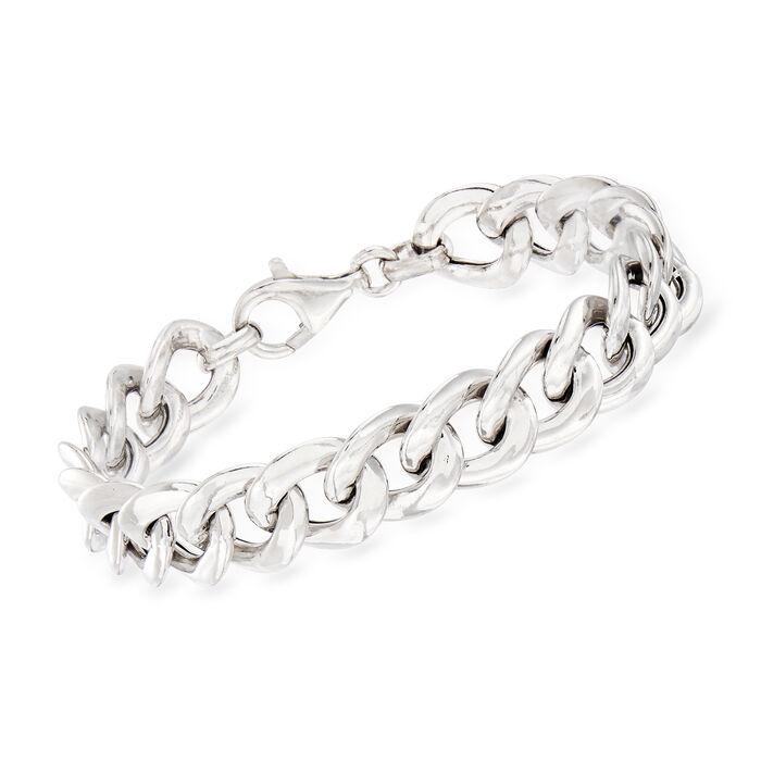 Italian Sterling Silver Grumetta-Link Bracelet, , default