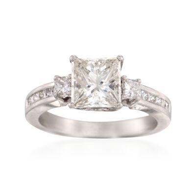 C. 2000 Vintage 2.57 ct. t.w.  Diamond Ring in Platinum, , default