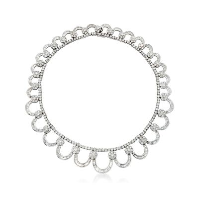 C. 1980 Vintage 40.70 ct. t.w. Diamond Collar Necklace in 18kt White Gold, , default