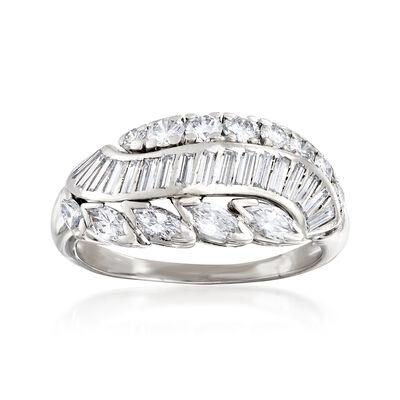 C. 1970 Vintage 1.50 ct. t.w. Multi-Shape Diamond Ring in Platinum, , default