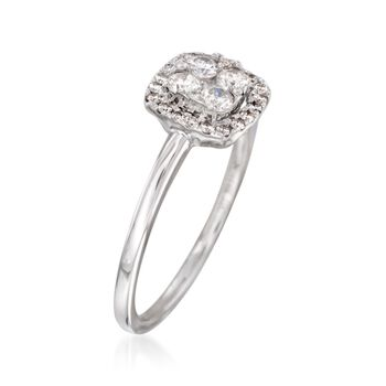 .42 ct. t.w. Diamond Cluster Ring in 18kt White Gold, , default