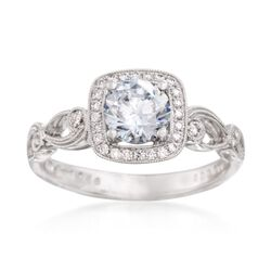 Simon G. .16 ct. t.w. Diamond Engagement Ring Setting in 18kt White Gold, , default