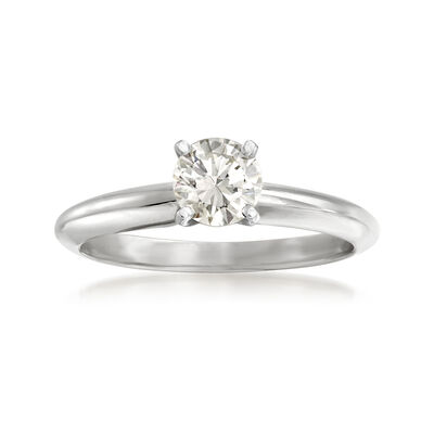 .50 Carat Certified Diamond Solitaire Ring in 14kt White Gold, , default