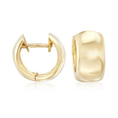 "Roberto Coin ""Oro Classic"" 18kt Yellow Gold Hugie Hoop Earrings, , default"