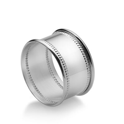 Empire Sterling Silver Beaded Napkin Ring, , default
