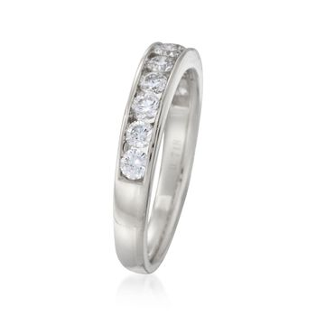 1.00 ct. t.w. Channel-Set Diamond Ring in 14kt White Gold, , default