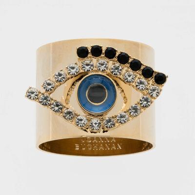 Joanna Buchanan Set of 2 Evil Eye Napkin Rings