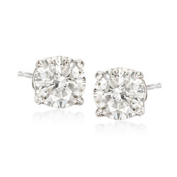 1.80 ct. t.w. Diamond Stud Earrings in 14kt White Gold , , default