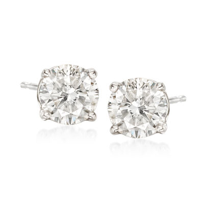 1.75 ct. t.w. Diamond Stud Earrings in 14kt White Gold, , default