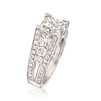 Majestic Collection 4.60 ct. t.w. Diamond Ring in 18kt White Gold. Size 7, , default