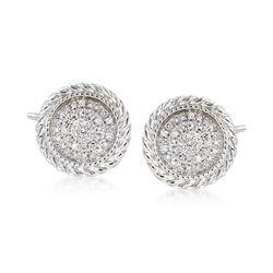 .10 ct. t.w. Diamond Earrings in 14kt White Gold, , default