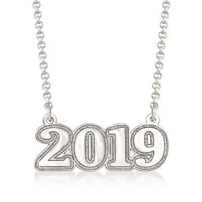 Sterling Silver 2019 Graduation Necklace, , default