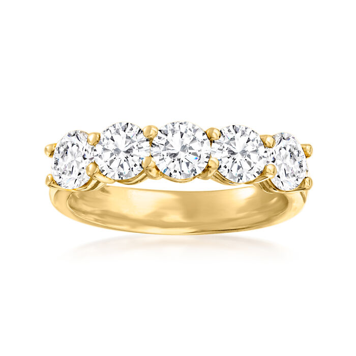 2.00 ct. t.w. Diamond Five-Stone Ring in 14kt Yellow Gold