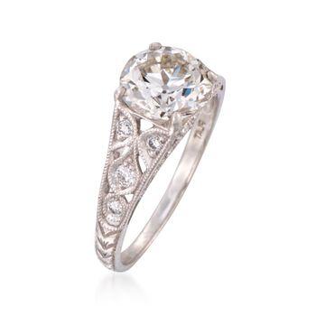 C. 2000 Vintage 2.34 ct. t.w. Certified Diamond Ring in Platinum. Size 6.5, , default