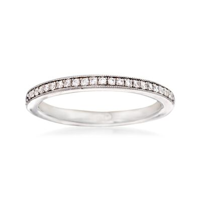 Gabriel Designs .15 ct. t.w. Diamond Wedding Ring in 14kt White Gold