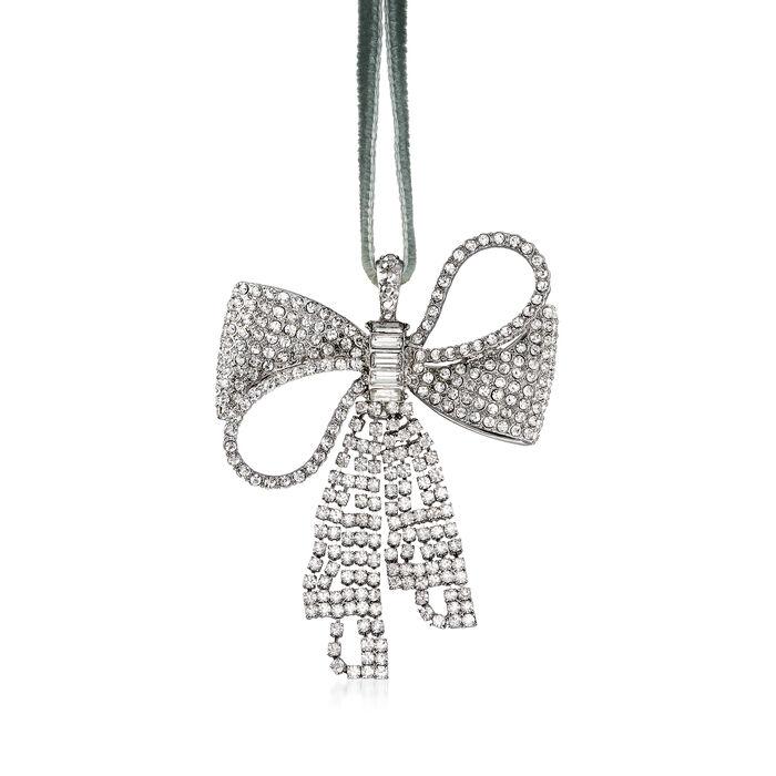Joanna Buchanan Crystal Sparkle Bow Ornament, , default