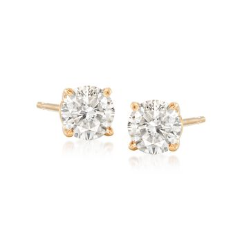 .75 ct. t.w. Diamond Stud Earrings in 14kt Yellow Gold , , default