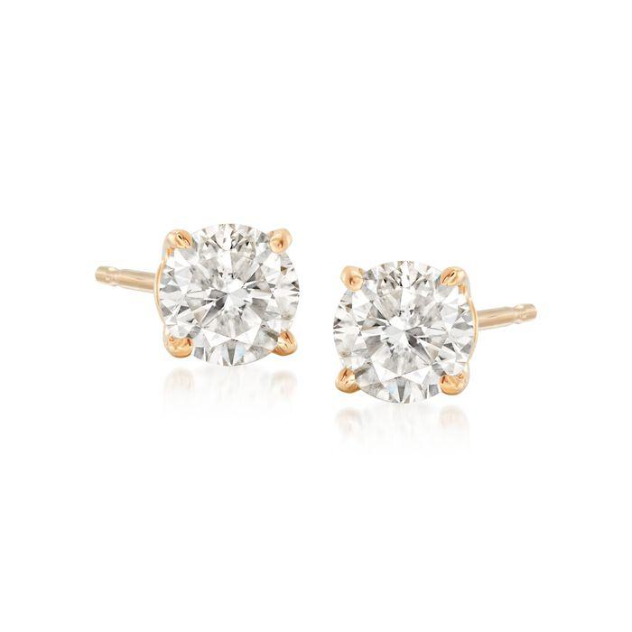 .75 ct. t.w. Diamond Stud Earrings in 14kt Yellow Gold , , default
