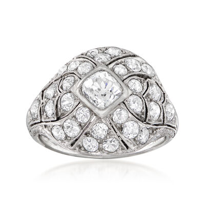 C. 1930 Vintage 3.60 ct. t.w. Diamond Ring in Platinum, , default