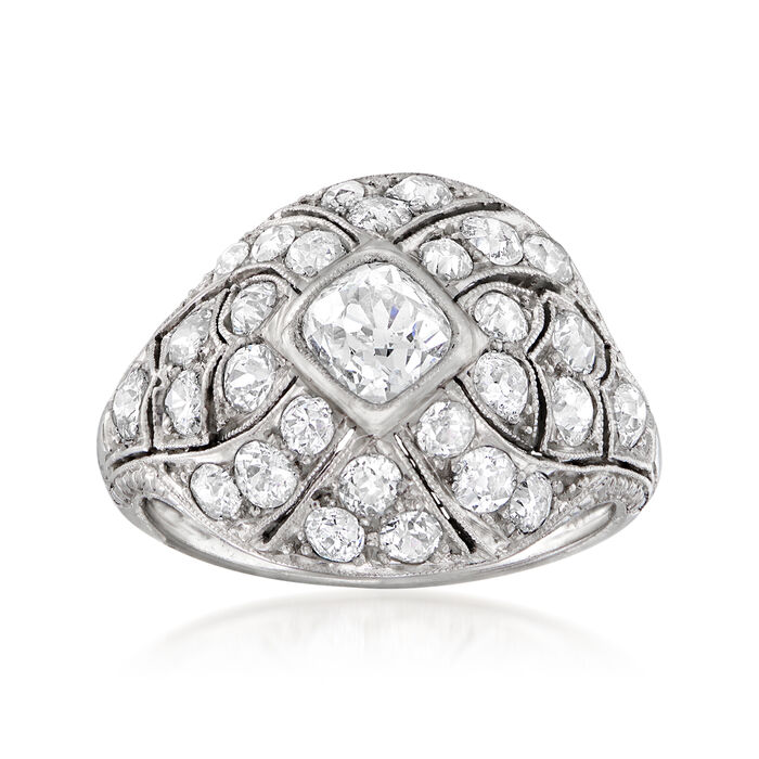 C. 1930 Vintage 3.60 ct. t.w. Diamond Ring in Platinum. Size 5.5, , default