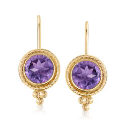 1.50 ct. t.w. Amethyst Drop Earrings in 14kt Yellow Gold, , default