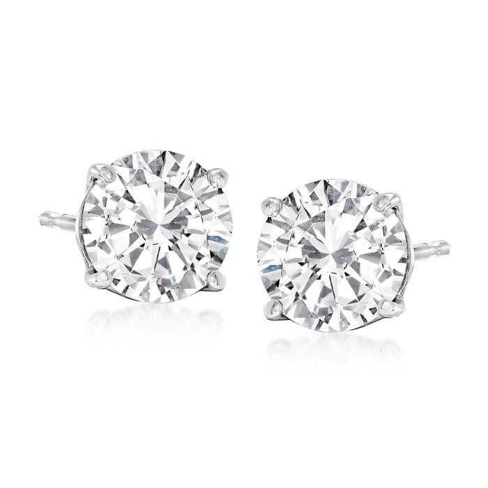 2.00 ct. t.w. Diamond Stud Earrings in 14kt White Gold