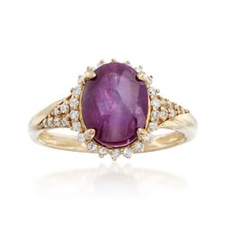 5.00 Carat Ruby and .25 ct. t.w. Diamond Ring in 14kt Yellow Gold, , default