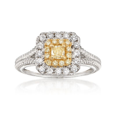 .73 ct. t.w. Yellow and White Diamond Ring in 18kt Two-Tone Gold, , default