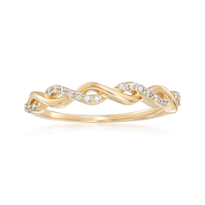 .12 ct. t.w. Diamond Twist Ring in 14kt Yellow Gold