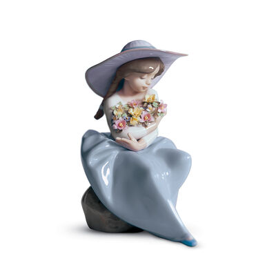 "Lladro ""Fragrant Bouquet"" Porcelain Figurine, , default"