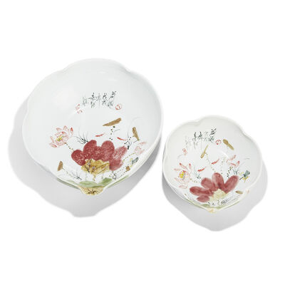 Set of 2 Japanese Blossom Porcelain Bowls