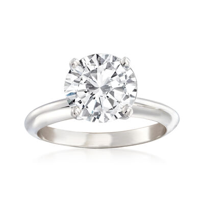 2.51 Carat Certified Diamond Solitaire Engagement Ring in Platinum