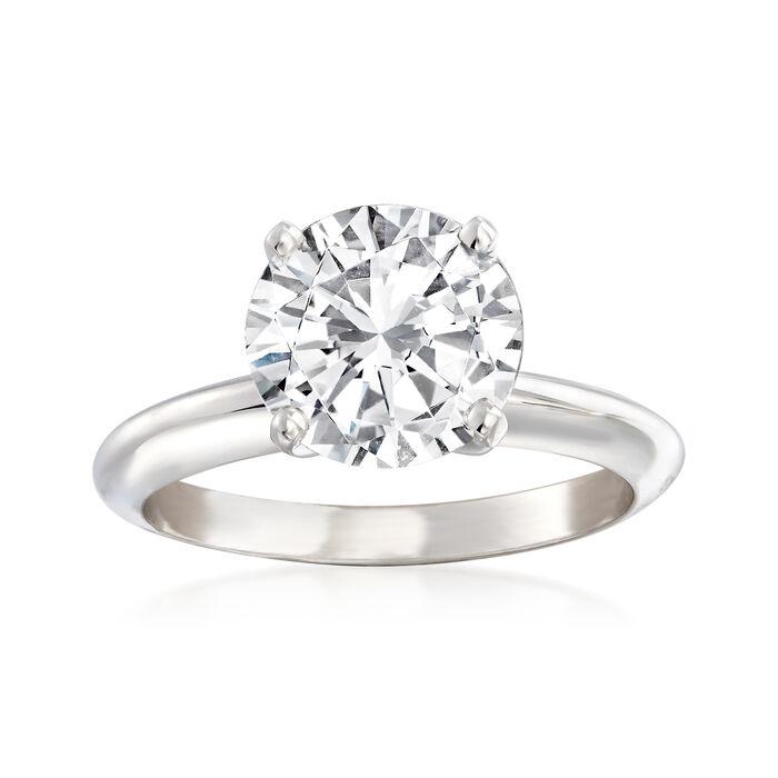 2.51 Carat Certified Diamond Solitaire Engagement Ring in Platinum