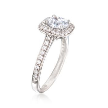 Gabriel Designs .48 ct. t.w. Diamond Engagement Ring Setting in 14kt White Gold, , default