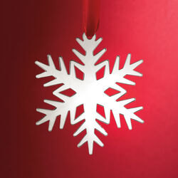 Sterling Silver Snowflake Holiday Ornament, , default