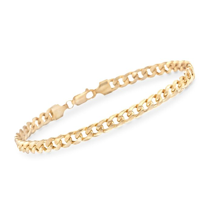 Men's 5.5mm Cuban Link Bracelet in 14kt Yellow Gold. 8.5""