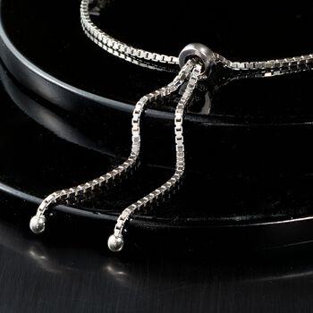 4.00 ct. t.w. CZ Bolo Bracelet in Sterling Silver