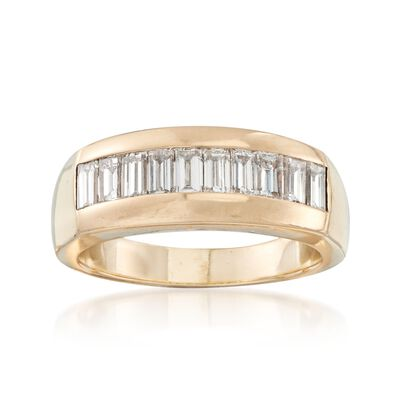 C. 2000 Vintage 1.50 ct. t.w. Channel-Set Diamond Ring in 14kt Yellow Gold, , default